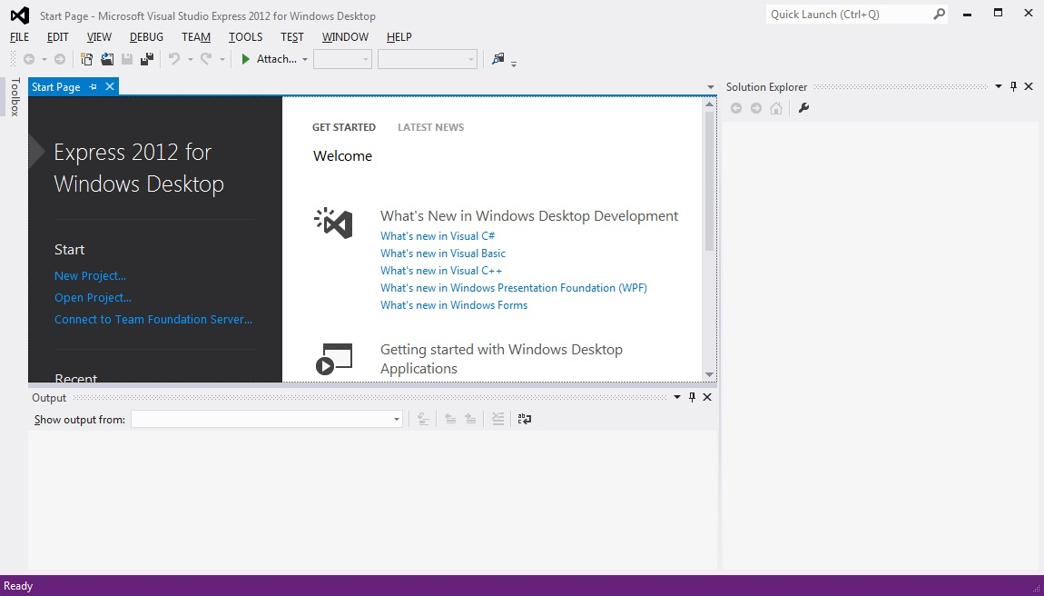microsoft visual studio express 2012 how to download
