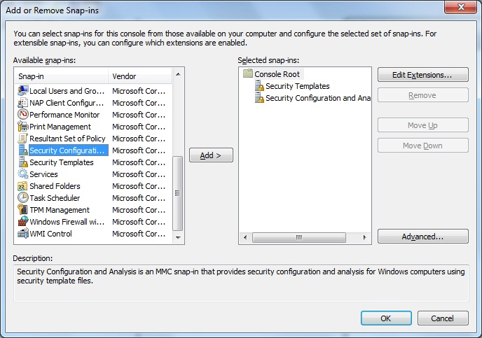 in the mmc window click the file menu and click addremove snap in