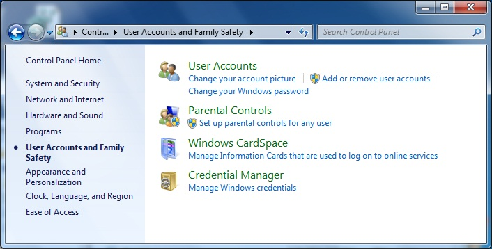 windows 7 family safety